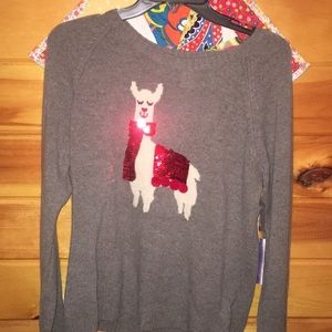 Gray Llama Sweater (NWT)